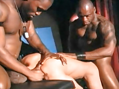 Sexy black gentlemen have banging ON STAGE in stomach of a live audience