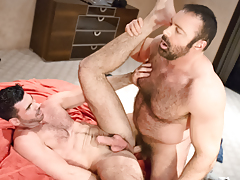 Manly hairy buds Brad & Billy rub & grind their fur collectively