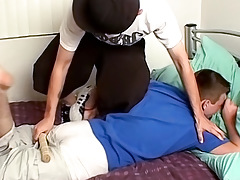 Peachy Butt Gets Spanked - Ian Madrox And Jeremiah Johnson