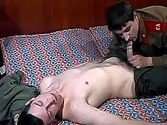Army guy seduces and screws friend