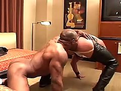 Black gay sucks cock and licks males hole