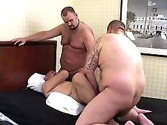 Chubby bear gays suck and fuck tight holes