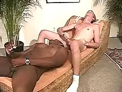 Black schlong penetrates tight ass