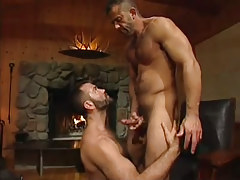 Lusty bear man cums on hairy dilf