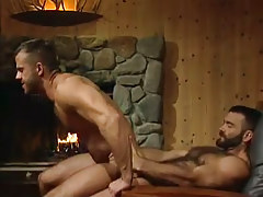 Horny bear dilf rides hard cock in house hunting
