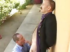 Bear mature gay sucked by horny dilf