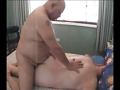 Chubby mature gay fucking tight ass behind