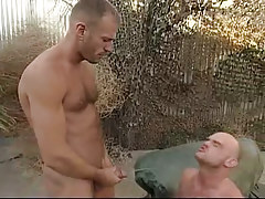Depraved gay pissing on boyfriend outdoor