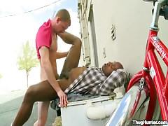 Black and white gays fucking outdoor