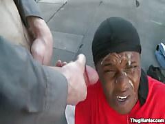 Dark guy gets hot facial